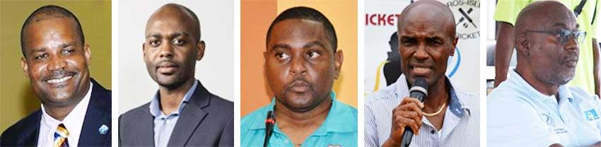 Image: (L-R) Emmanuel Nantan, Dr Kishone Swallow, Dwain Gill, Julian Charles and Patrick Felix. (PHOTO: CWI/ Anthony De Beauville)