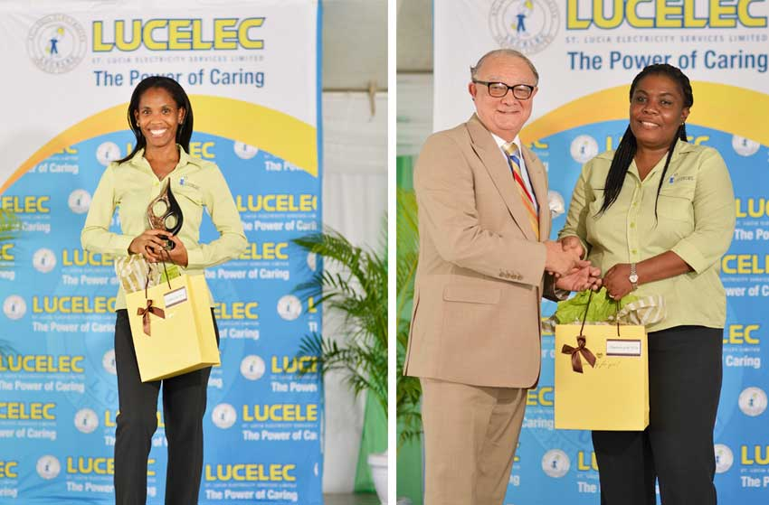 Image of LUCELEC's 2018 Employee of the Year & 2018 Supervisor of the Year