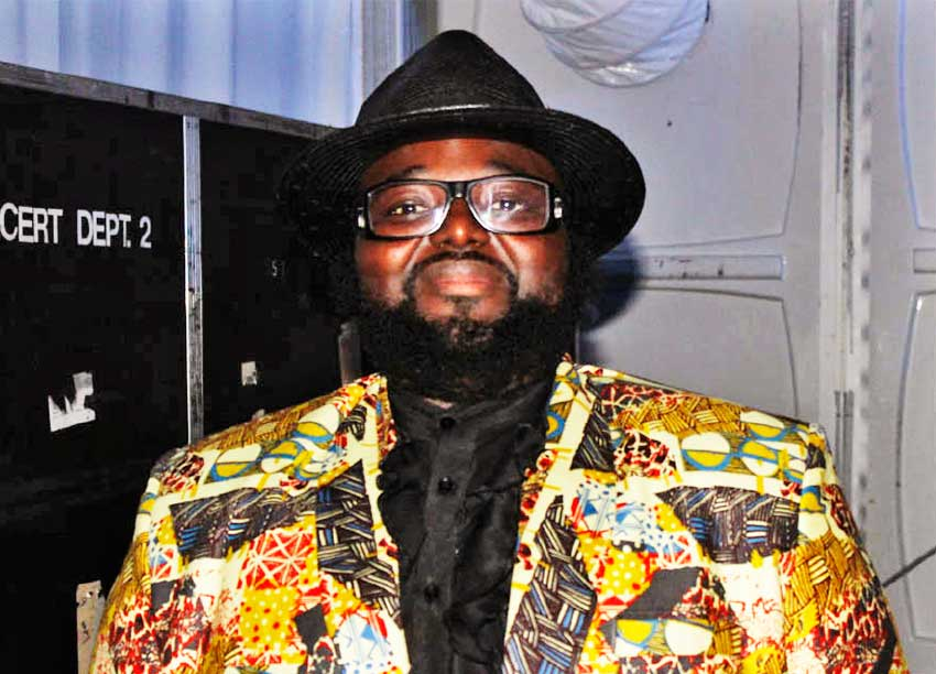 Image of Gregory Porter before his performance.