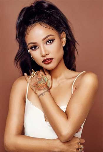 Image of American actress and model Karrueche Tran