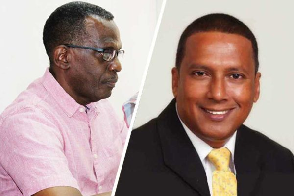 Image of Opposition Leader Philip J Pierre & Economic Development Minister Guy Joseph.