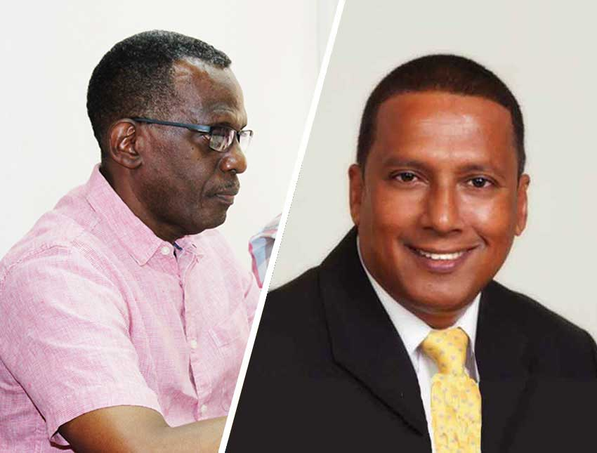 Image of Opposition Leader Philip J Pierre & Economic Development Minister Guy Joseph.