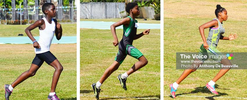 Image of Some of the track athletes vying for a place in the top 8 of the Northern Zone Qualifier. (PHOTO: Anthony De Beauville)