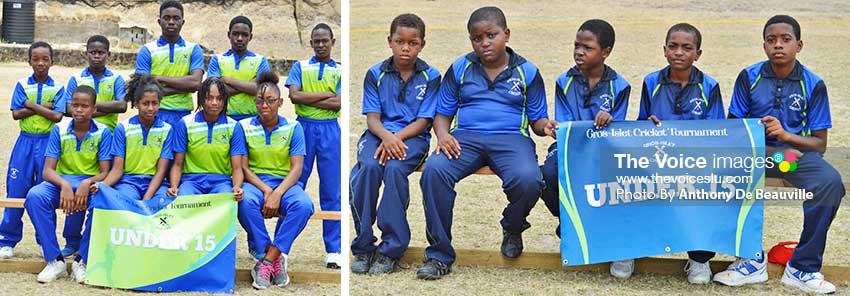 Image: Some of the young, aspiring cricketers who will show their skills on Sunday ahead of the celebrity match at the Gros Islet Playing Field. (PHOTO: Anthony De Beauville)