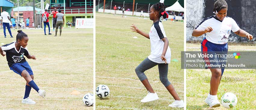 Image: They're set to represent their various districts at the Inter-Primary Schools Girls tournament in 2020. (PHOTO: Anthony De Beauville)