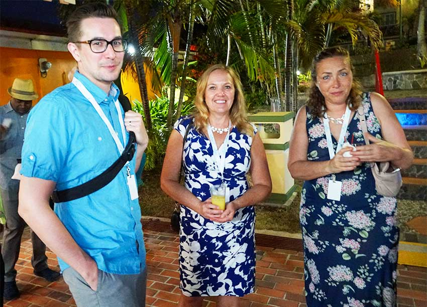 Image: Visiting Canadian media attending the Saint Lucia Jazz Media Mixer