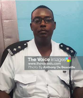 Image of Acting Inspector, Callixtus Charlemagne of the Royal Saint Lucia Police Force. (PHOTO: Anthony De Beauville)