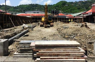 Image of the Castries Market Redevelopment Project is now underway