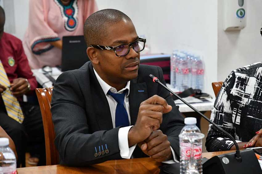 Image: Commissioner Dr. Ruddy Blonbou, Guadeloupe's representative at the OECS.