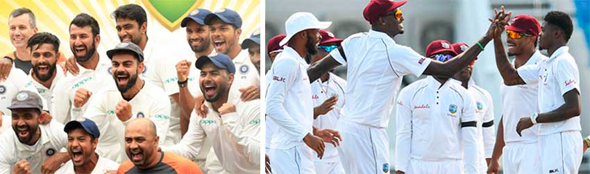 Image: (L-R) India set to take on West Indies in World Test Championship campaign. (PHOTO: Getty Images/AFP)