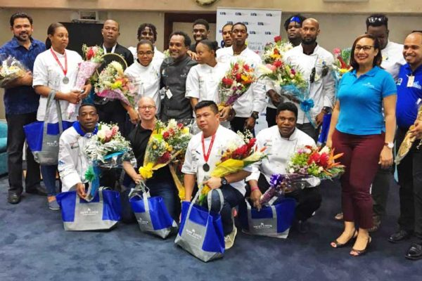 Image: The National Culinary Team at the Hewanorra International Airport upon their return from the Taste of the Caribbean competition.