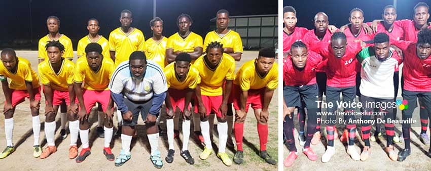 Image: (L-R) On the Rock Strikers and Piton Travel Young Stars to play final this evening. (PHOTO: Anthony De Beauville)