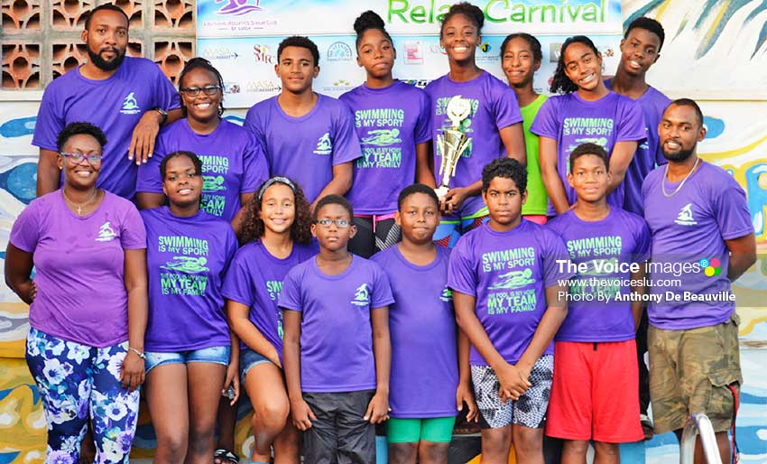 Image: Second place team, Lightning Aquatics Swim Club. (PHOTO: Anthony De Beauville)