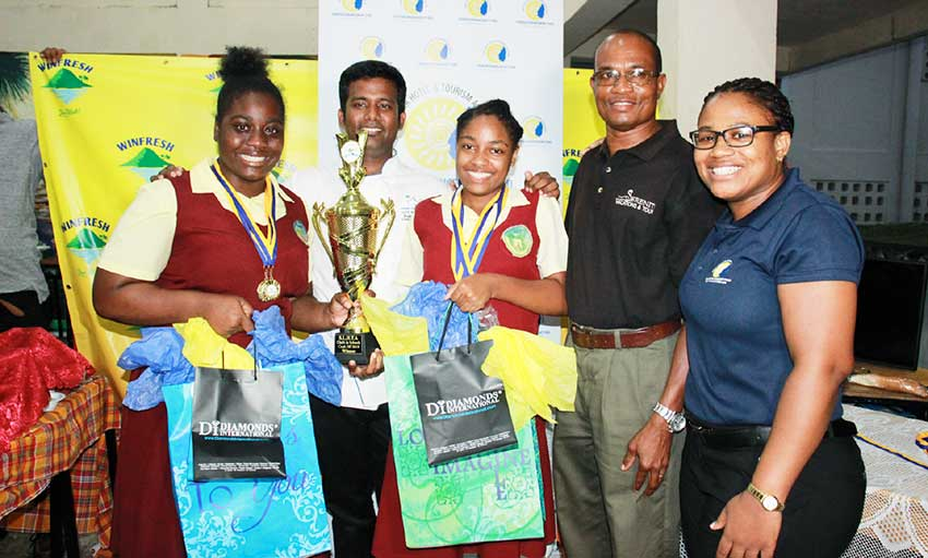 Image: Soufriere Comprehensive Secondary School, winners of the Chefs in Schools Cook Off 2019.