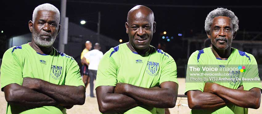 Image: (L-R) In the 40+ VSADC will play X- Men from Trinidad at 3.00 p.m and Gros Islet takes on Labowee Connextions at 12.00 noon at the DSCG. PHOTO: VISI/Anthony De Beauville)