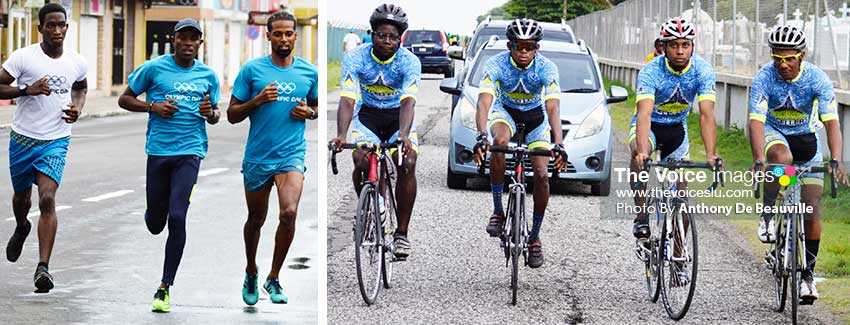 Image of some of Saint Lucia's national athletes on show. (PHOTO: Anthony De Beauville)
