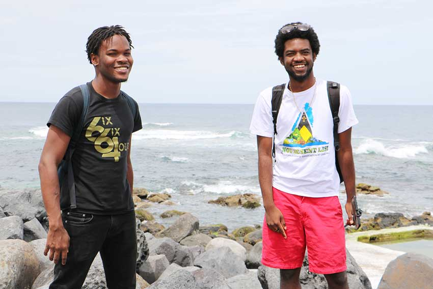 Image of Montserratian Ashneil Jeffers and Saint Lucian Jevanic Henry