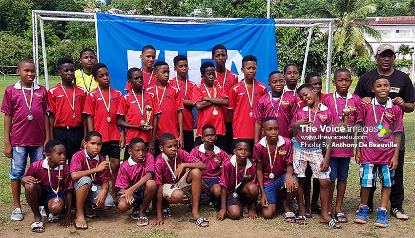 Image: A proud moment for Black Panthers (Soufriere) Under 11s finishing 2nd and Under 13s placing 3rd respectively.(PHOTO: Anthony De Beauville)