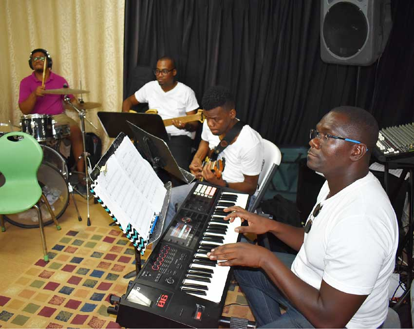 Image: For the love of Kaiso – members of the police band in action.
