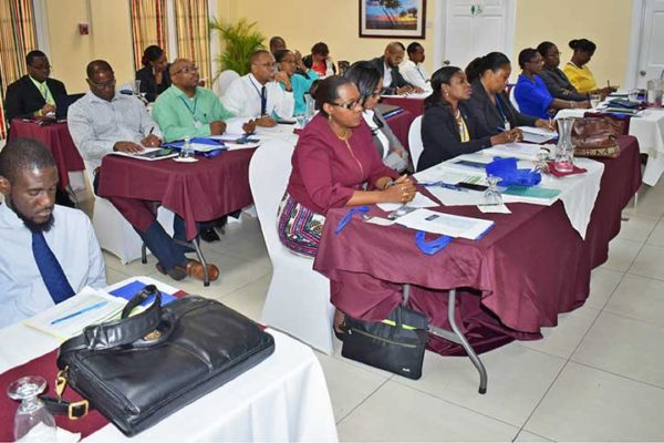 Image: The IMPACT Justice Project's workshop was held at the Bay Gardens Hotel on Wednesday.