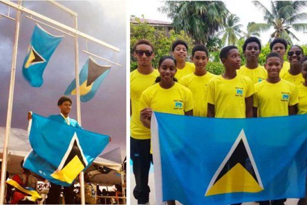 Image: (L-R) Gold medalist, JayhanOdlum - Smith; Team Saint Lucia. (PHOTO: SLAF)