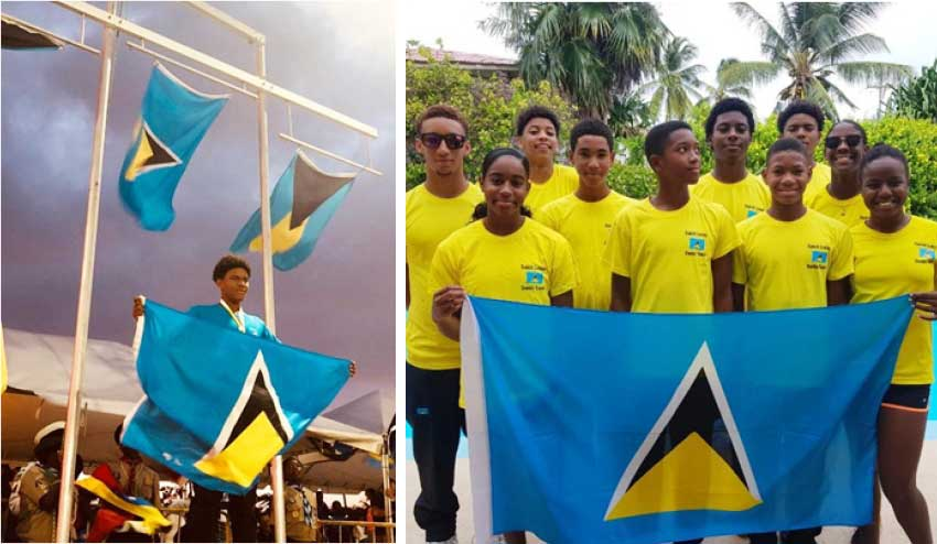 Image: (L-R) Gold medalist, JayhanOdlum - Smith; Team Saint Lucia. (PHOTO: SLAF)