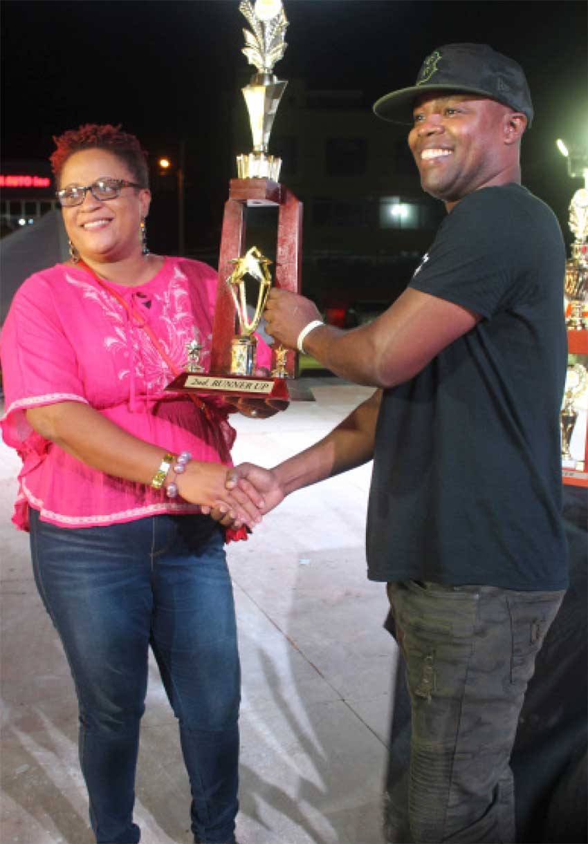 Image of third place Power Soca finisher Mantius (at right).