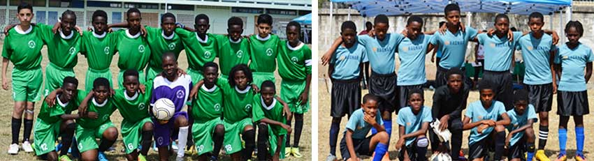 Image: (L-R) Finalists, Northern United All Stars and Flow Lancers FC. (PHOTO: Anthony De Beauville)