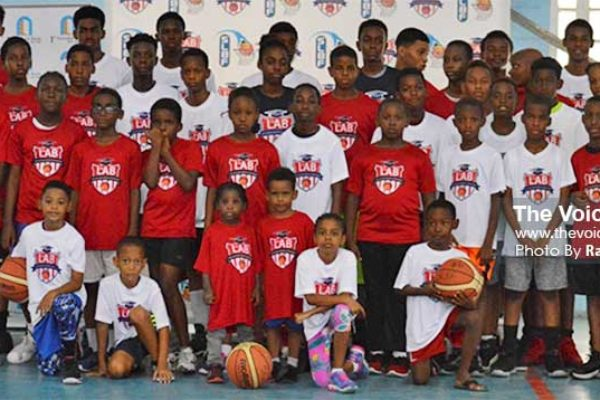 Image of participants at this year's Youth Basketball camp. (PHOTO: Anthony De Beauville)