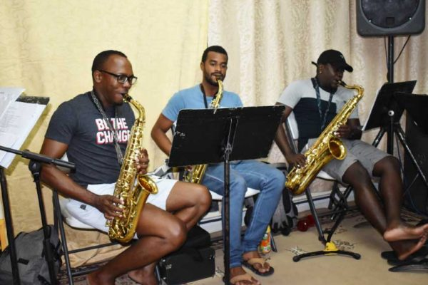 Image: Royal St Lucia Police Band members rehearse for Kaiso Headquarters XIV.