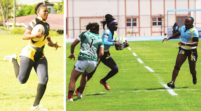 Image: Saint Lucia women in action. (PHOTO: DP/SLRFU)
