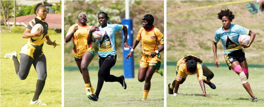 Image: Saint Lucia's female rugby players take on Mexico in their opening encounter today. (Photo: RAN)