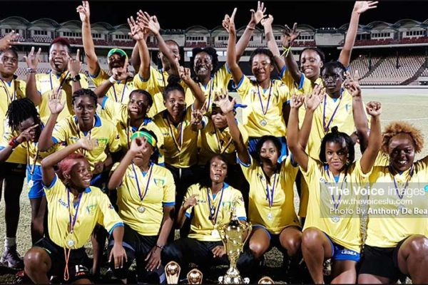 Image: Saint Vincent and the Grenadines WIFA Women's champions. (PHOTO: Anthony De Beauville)
