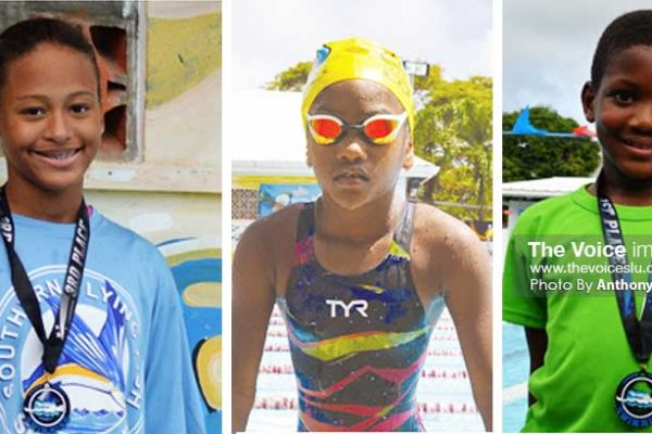 Image: (L-R) Some members of the Goodwill Team, Maliyah Henry, Fayth Jeffery and Arron Charles. (PHOTO: Anthony De Beauville)