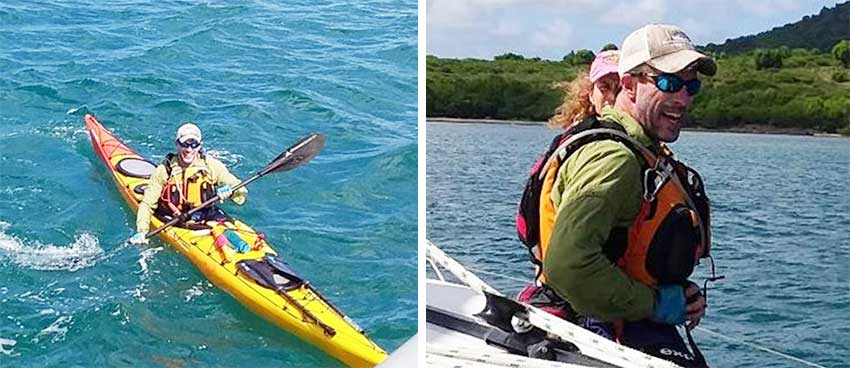 Image: (L-R) Weston Moses enroute to Martinique; Weston taking a much deserve rest after reaching Grande Anse in Martinique. (PHOTO: SLCS)
