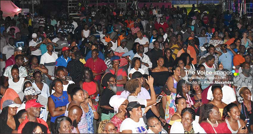 Image of the audience at Saint Lucia's Calypso Finals. [PHOTO BY Allen Alexander]