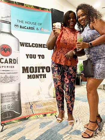 Image of patrons at the launch of BACARDÍ Mojitos.