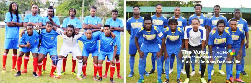 Image: (L-R) Canaries will play Gros Islet at the Fond Assau Playing Field today. (Photo: Anthony De Beauville)
