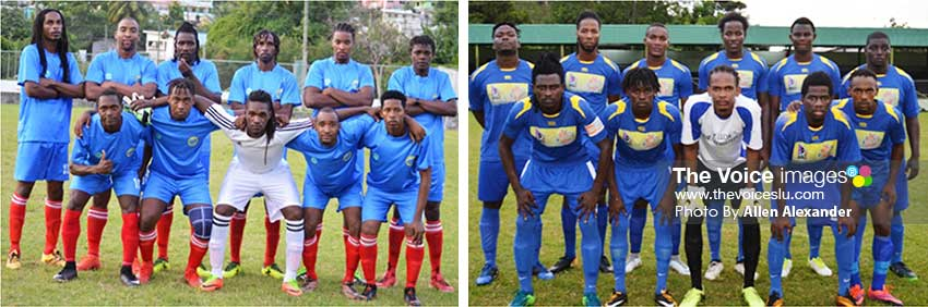 Image: Canaries won 1-0 over a formidable Vieux Fort South team; Gros Islet defeated South Castries 3-0. (Photo: Anthony De Beauville)