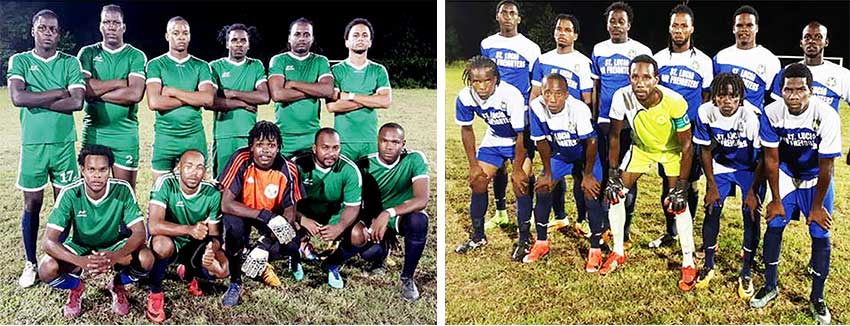 Image: (L-R) Desruisseaux and Gros Islet played to a 1-1 draw.