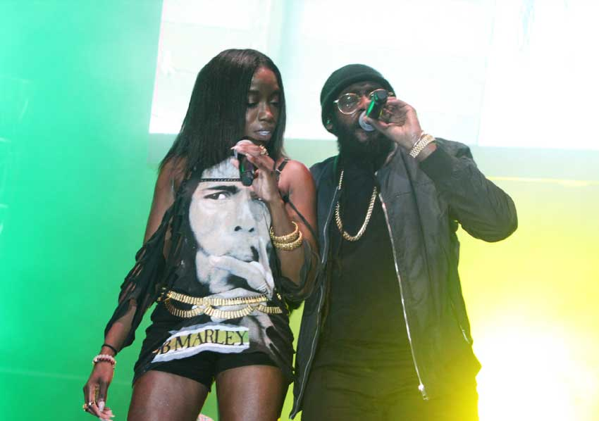 Image of Estelle performing with Tarrus Riley.