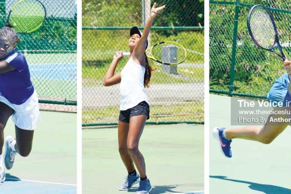 Image: (L-R) Iyana Paul (Saint Lucia), Cameron Wong (Trinidad and Tobago), Jorja Mederick (Saint Lucia) (Photo: Anthony De Beauville)