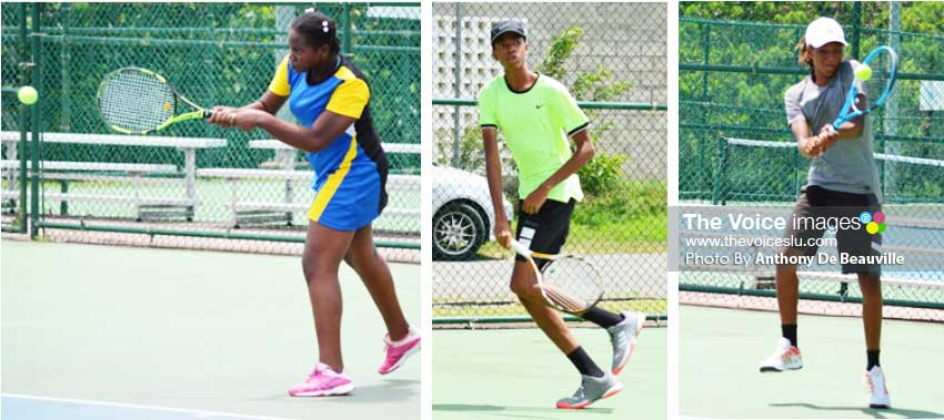 Image: (L-R) Latoya Murray (Saint Lucia), Corey Charles (Saint Lucia), and Afi Lucas (Saint Vincent and the Grenadines). (Photo: Anthony De Beauville)