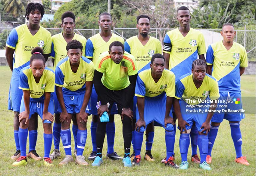 Image: Marchand 2019 Island Cup starting XI against Vieux Fort North on Saturday 3rd August. (PHOTO: Anthony De Beauville)
