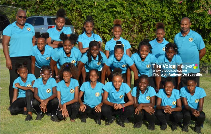 Image: National Under 14 Girls football team. (Photo: Anthony De Beauville)