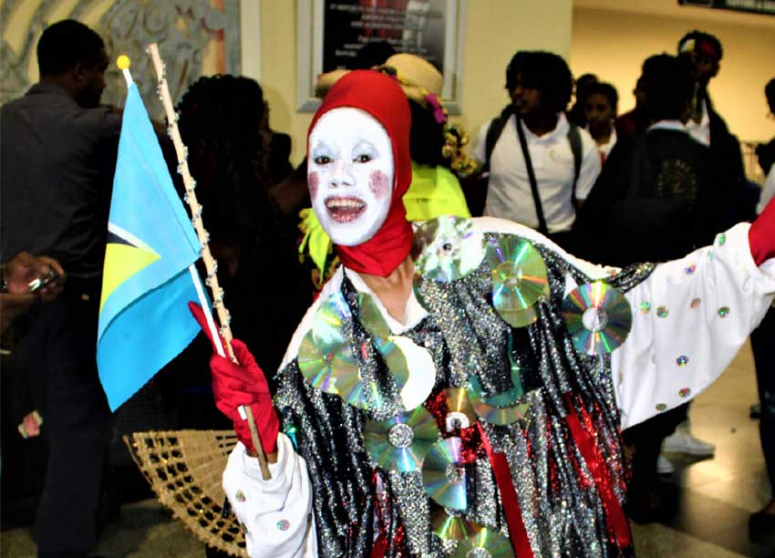 Image: Representing Saint Lucia with colour and flair. [Photo: Stan Bishop]