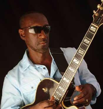 "Image of Saint Lucian musician Ronald ""Boo"" Hinkson."
