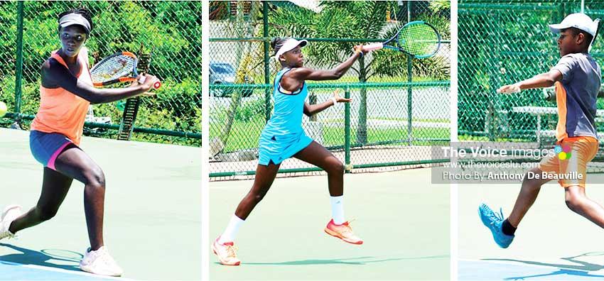 Image: (L-R) Serena Bryan (Barbados), Janae George – Alexander (Antigua and Barbuda), Arden Rosemond (Saint Lucia). (Photo: Anthony De Beauville)