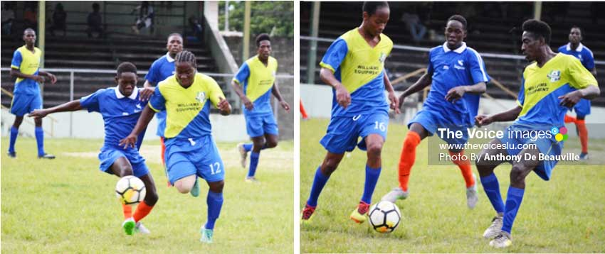 Image: (L-R)Some of the action between defending champions Marchard and Vieux Fort North. (PHOTO: Anthony De Beauville)