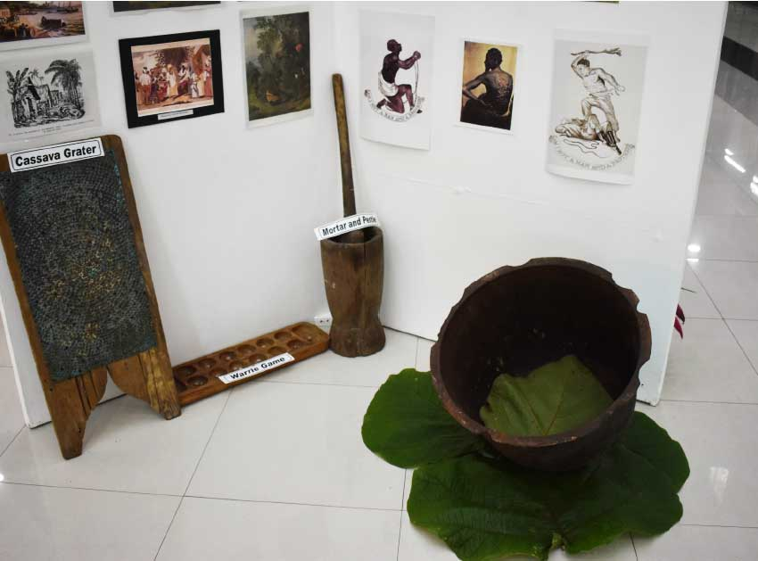 Image of some of the artefacts featured at the exhibition.